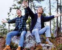 세상을 껴안다 : 필자와 친구 마티아가 또 다른 자연 탐사에서 자신들의 모습을 사진에 담았다.